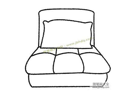 沙发床简笔画图片