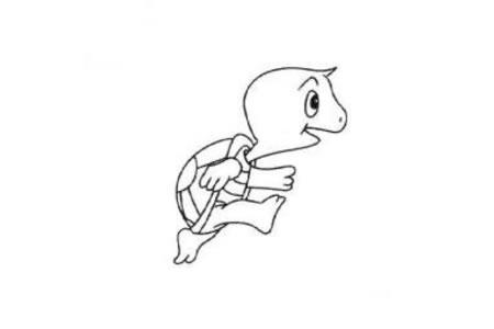 可爱小乌龟简笔画画法