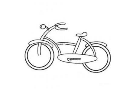 幼儿自行车简笔画图片