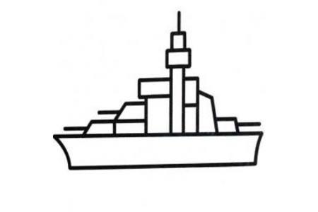 关于船的简笔画图片