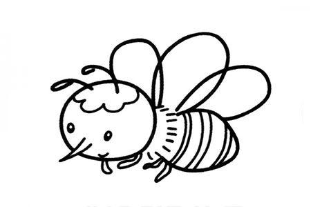可爱的卡通蜜蜂简笔画图片