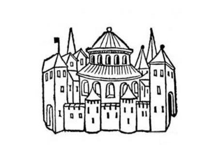 美丽的城堡简笔画