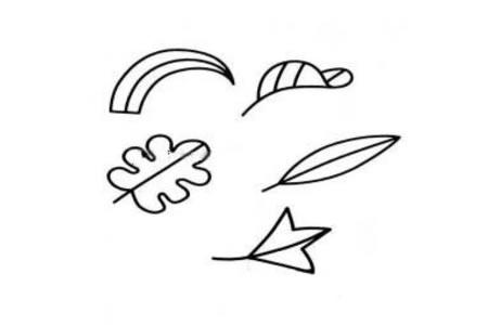 萌萌的幼儿树叶简笔画