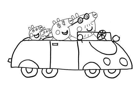 小猪佩奇一家人简笔画