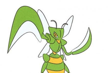 一步一步学画卡通螳螂