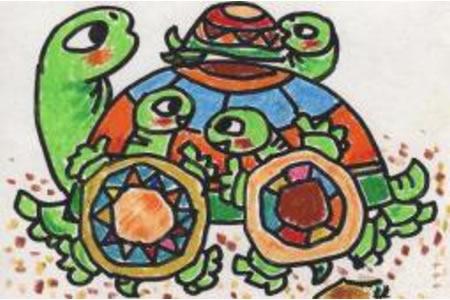 乌龟妈妈和小乌龟