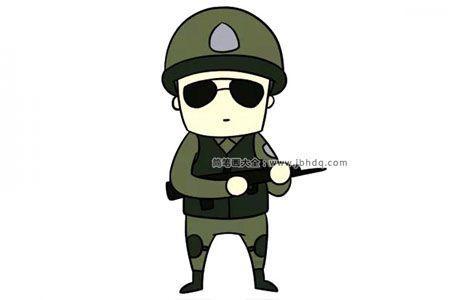 帅气的警察简笔画