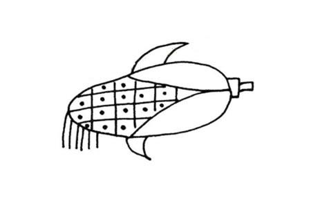 简单的植物简笔画 玉米简笔画图片