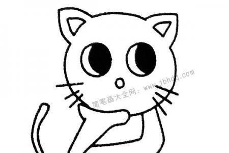 侦探猫咪简笔画