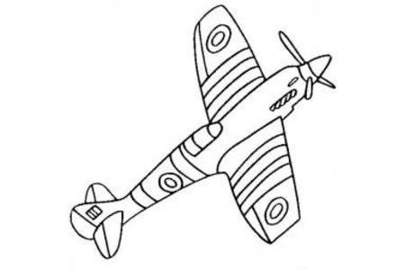 喷火战斗机简笔画图片