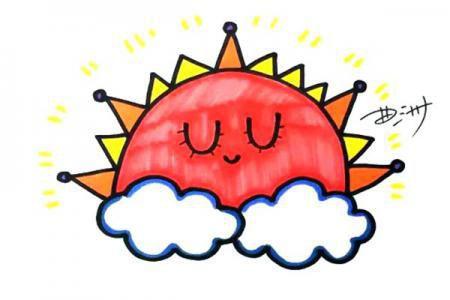 太阳宝宝怎么画