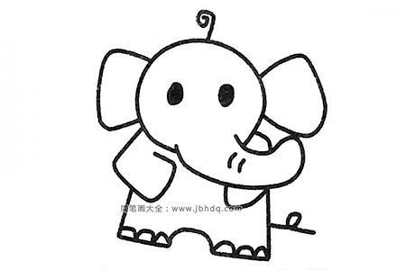 四步画出可爱的大象