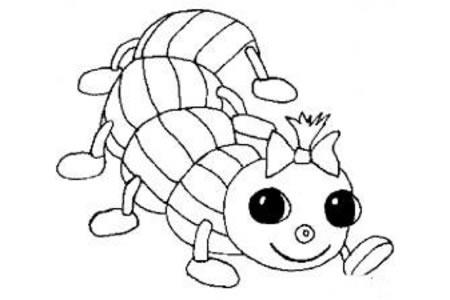 卡通毛毛虫简笔画