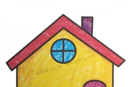 幼儿学画房子2