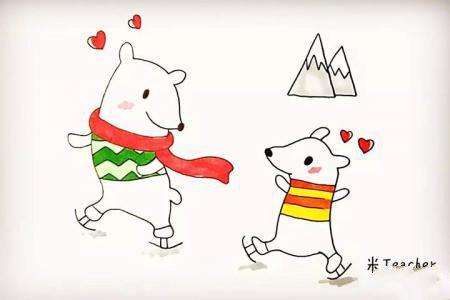 怎么画北极熊