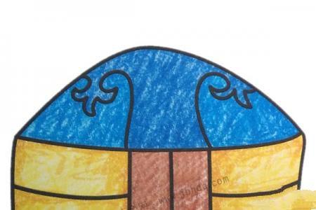 幼儿学画蒙古包