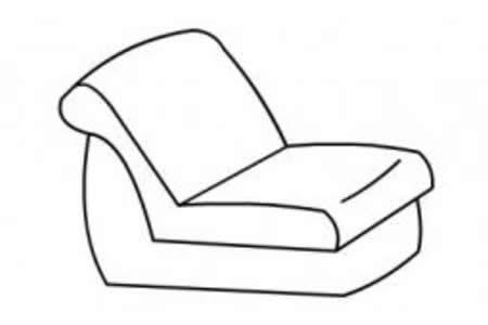 幼儿简笔画沙发的画法
