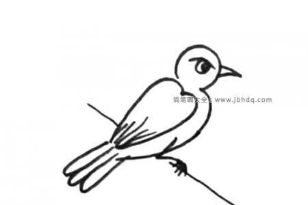 两张超简单的小鸟简笔画画法