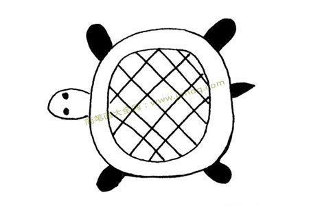 简单乌龟简笔画图片