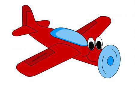 卡通小型飞机简笔画图片