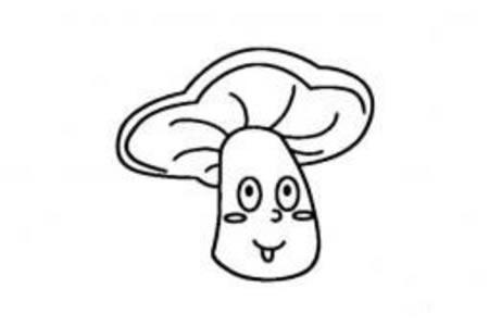 卡通植物简笔画大全 卡通蘑菇头简笔画