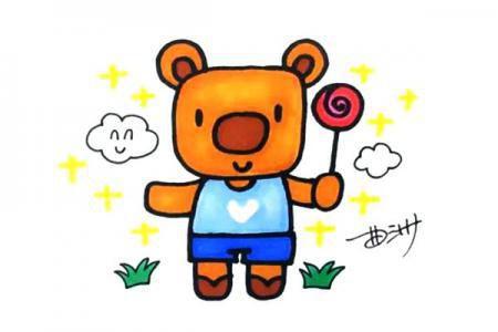 卡通小熊怎么画