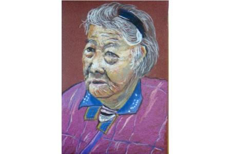 亲爱的奶奶,重阳节尊老爱老儿童画分享