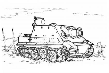 重型坦克简笔画