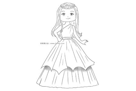可爱的公主简笔画图片