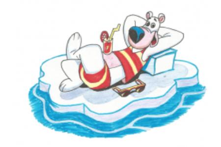 如何画卡通北极熊