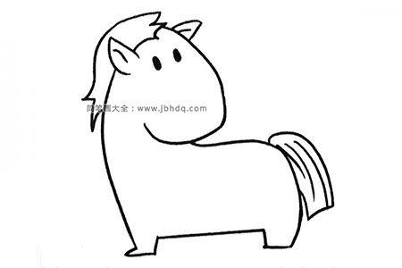 六张可爱卡通小马简笔画图片