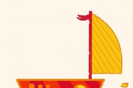 神奇简笔画 帆船