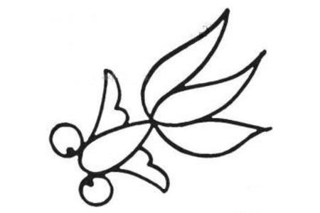 幼儿金鱼简笔画图片