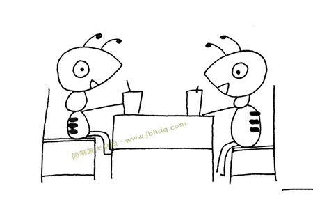 两只蚂蚁共进晚餐
