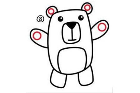 简笔画教程 小熊简笔画步骤