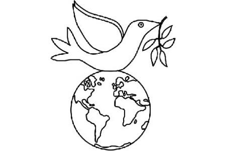世界和平 和平鸽简笔画图片