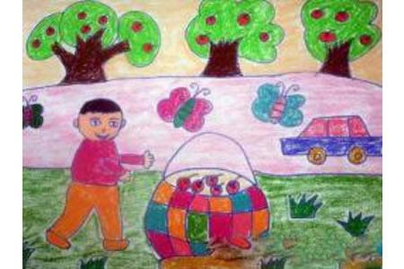 国庆去哪玩,国庆节主题儿童画欣赏