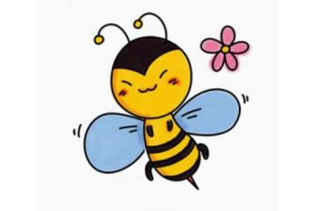 蜜蜂简笔画步骤