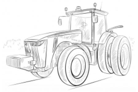 如何画拖拉机