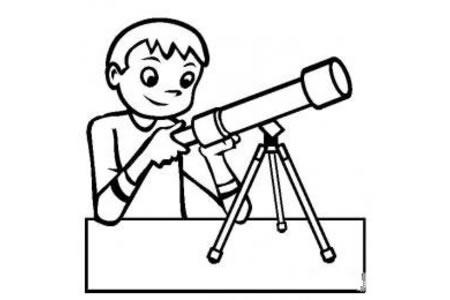 儿童玩具图片 望远镜简笔画图片