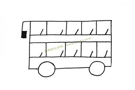 教你画简单的公共汽车