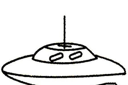 飞碟简笔画大全及画法步骤