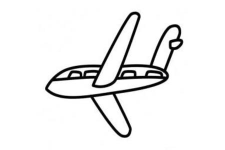 幼儿简单的飞机简笔画
