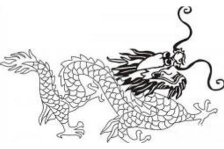 龙的简笔画 中国龙简笔画画法