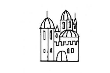 幼儿城堡的画法