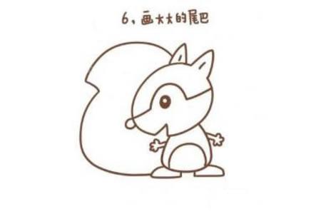 小松鼠简笔画教程