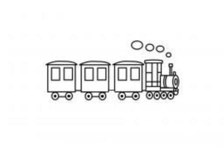幼儿简笔画火车