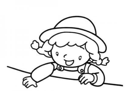 桌子边的小女孩