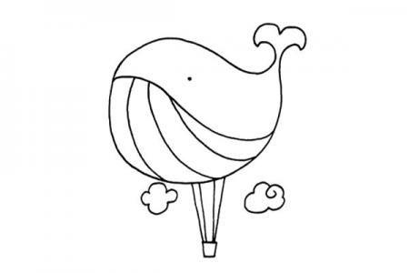 鲸鱼热气球