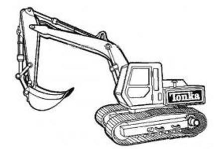 工程车简笔画图片之挖掘机